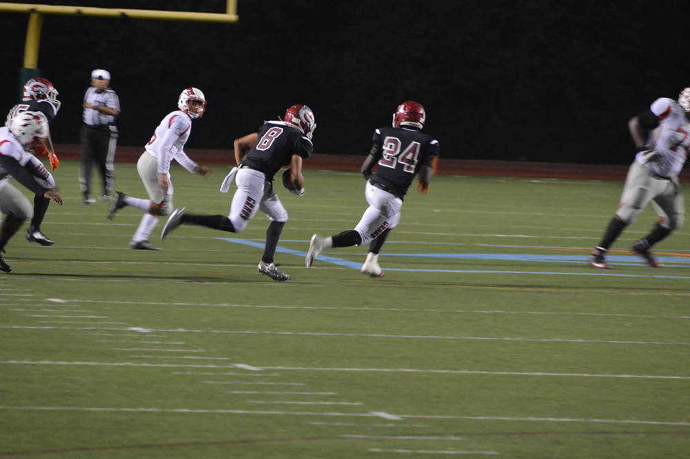 Grady's #8 Clay returns int to Woodland 31-yd line