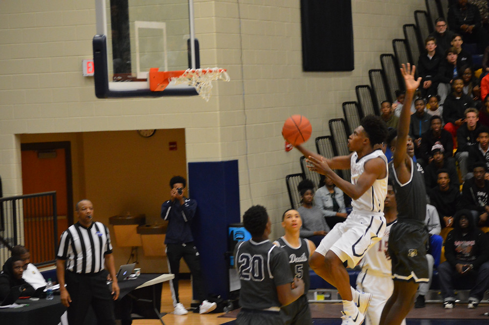 Pebblebrook's #1 Collin Sexton goes up for 2 of his 32 points