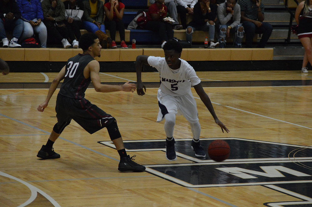 Marietta's #5 Kahlial Hawkins came up with big steal