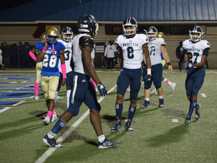 History Making Night Sees Blue Devils Hold Off Indians As Marietta Defeats McEchern 28-21