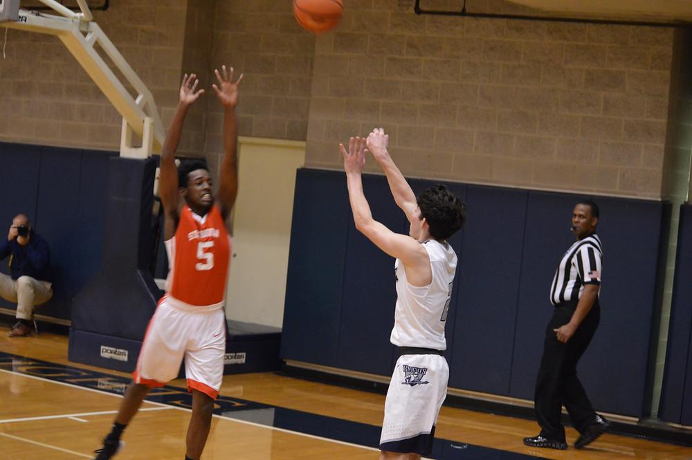 Pace Academy's #2 Barrett Baker launches a 3-pointer