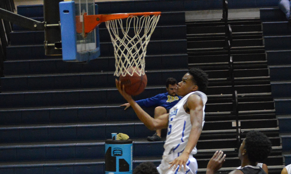 McEachern's #35 Isaac Okoro scores 2 of his 17 points