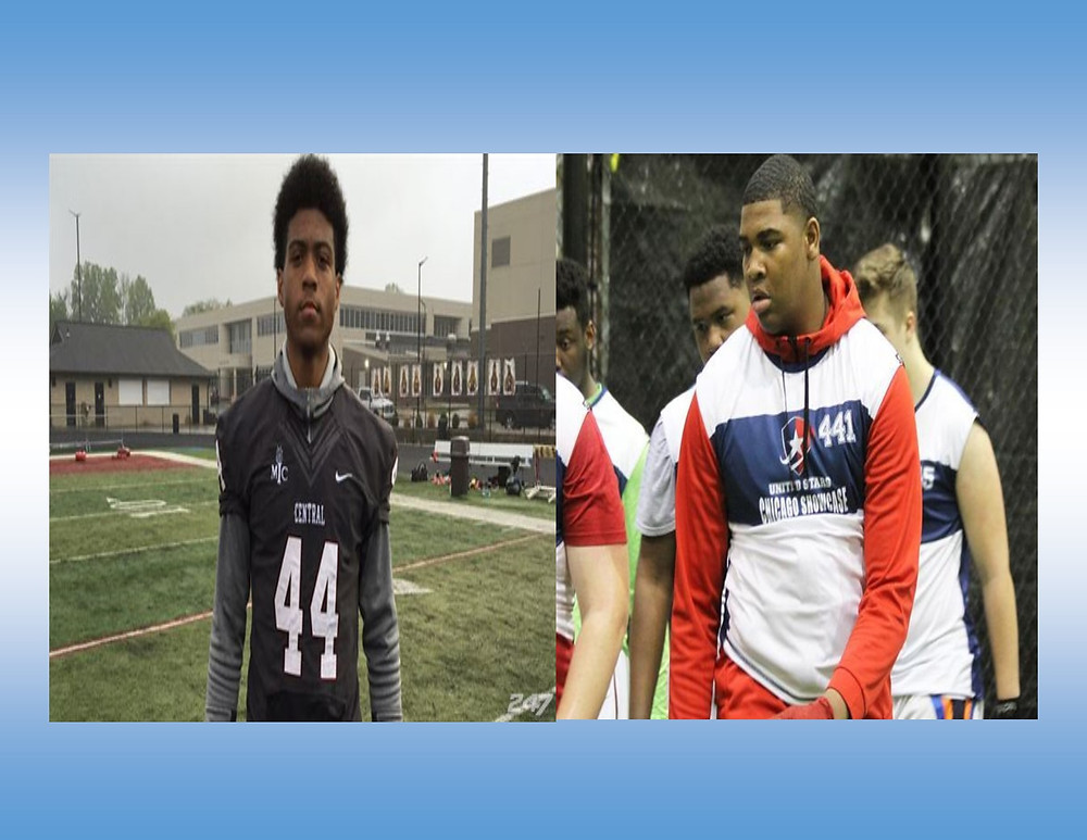 (L) Cameron McGrone - Photo Credit: 247 Sports (R) Spencer Brown - Photo Credit: Scout.com / Allen Trieu