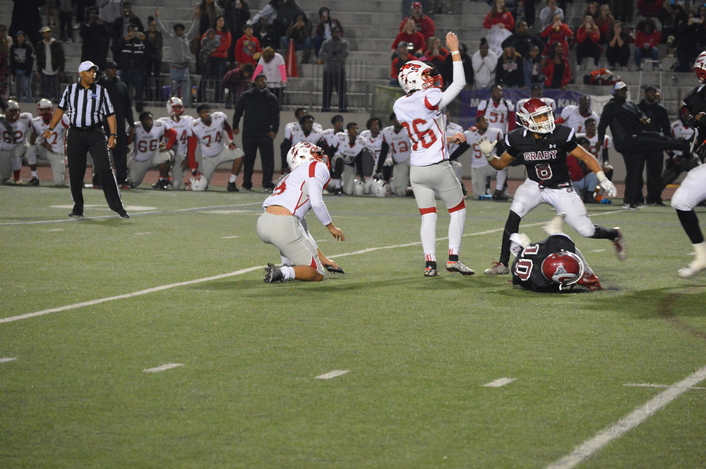 Woodland's #36 Herman comes though on the 38-yd field goal giving the Wolfpack the win