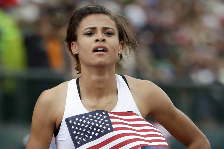 16-year old Sydney McLaughlin (Marcio Jose Sanchez)