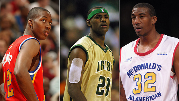 Dwight Howard (L), LeBron James (C), Amari Stoudemire (R) - Photo Credit: ValorPress.org