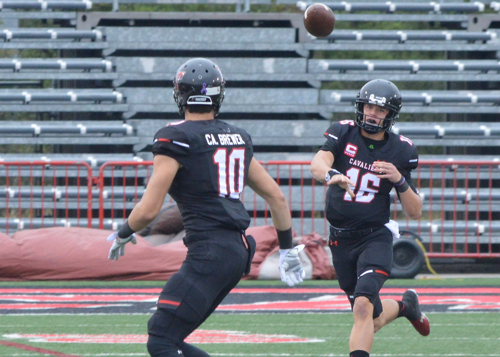 Lake Travis' #16 Charlie Brewer connects with brother #10 Cade Brewer