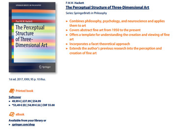 The Perceptual Structure of Three-Dimensional art is published