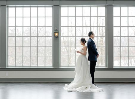 Joyce & Larry Winter Wedding