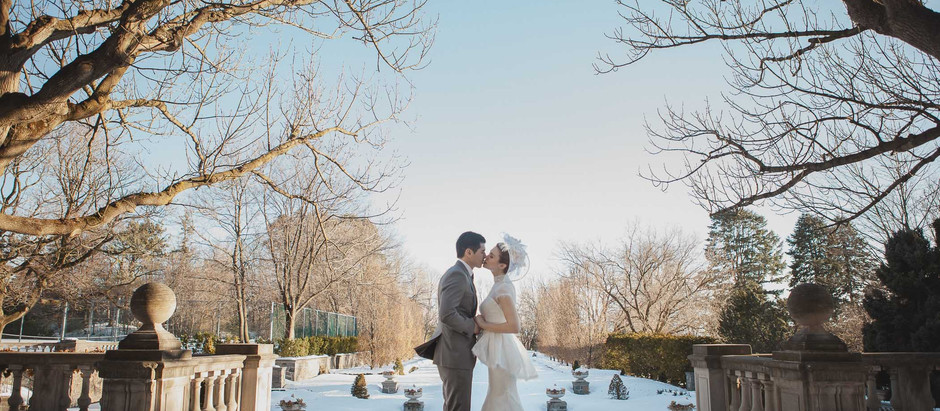 Toronto Casa Loma And Graydon Hall Manor Winter Wedding