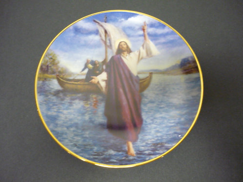 "The Glory of Christ Plate Collection -""Jesus Walks on Water"""