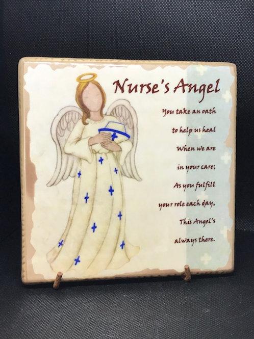 Nurses Angel Plaque