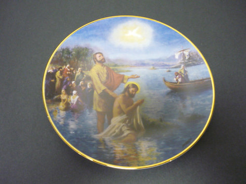 """The Glory of Christ Plate Collection -""""The Baptism of Christ"""""""