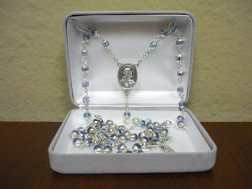 Light Blue Crystal Rosary