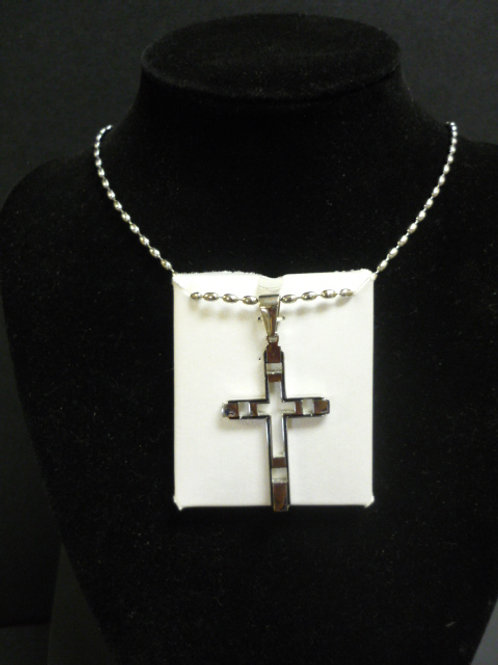 Stainless Steel Silhouette Cross