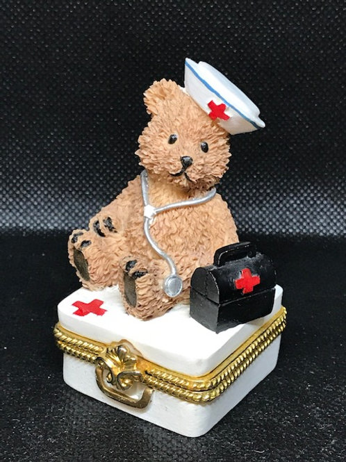 Nurse Bear on Pill Box
