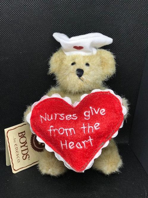 Nurses Give from the Heart Stuffed Bear