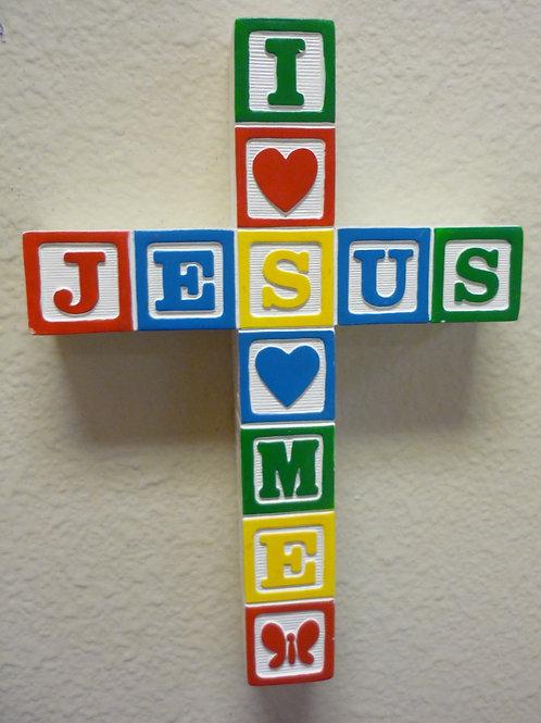 Baby's Room Block Cross