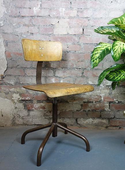 Vintage Werkstattstuhl Industriedesign Stuhl