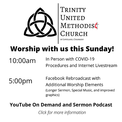 Worship Online with us during our COVID-