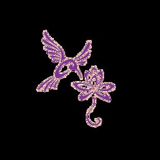 Pretty purple hummingbird