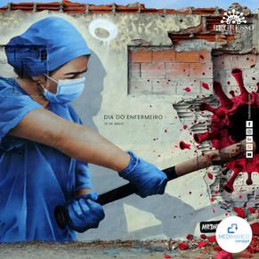 Conheça a história da Enfermeira Carolina na luta contra a COVID-19