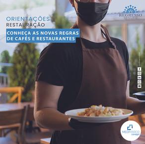 DGS dá novas regras para dentro de restaurantes e cafés
