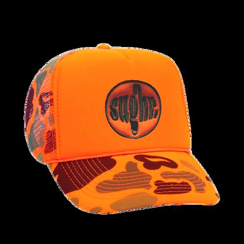 Limited Edition Neon Orange Camo Trucker Hat