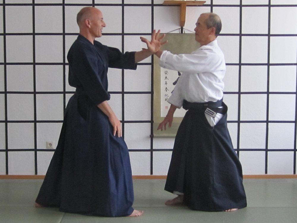 Axel und Sensei Kenji Hayashi