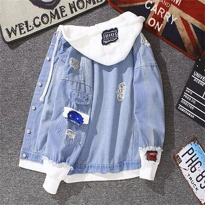 Vintage Jacket for Women Summer Autumn Denim Jackets Fashion