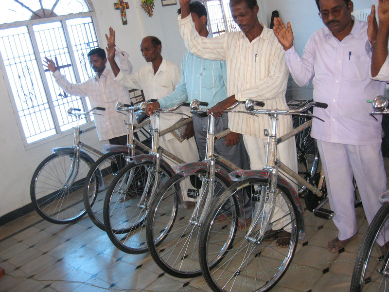 Transportation cannot be taken for granted. Providing bicylces to the pastors and workers for Hope Rising partners allows them to travel through their area.
