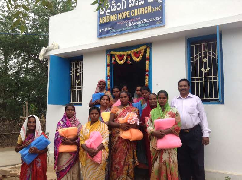 Hope Rising for India also assists with basic needs for families, such as mosquito netting.