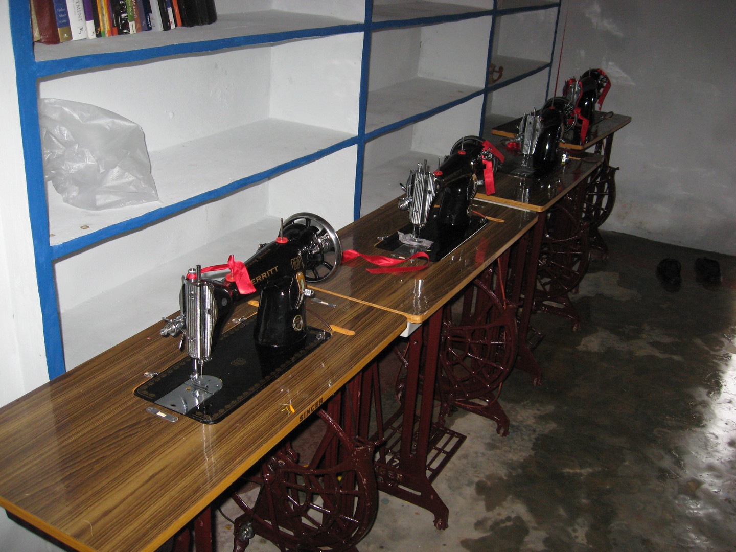 Sewing machines used to train women to learn a skill that translates into a lifestyle change.