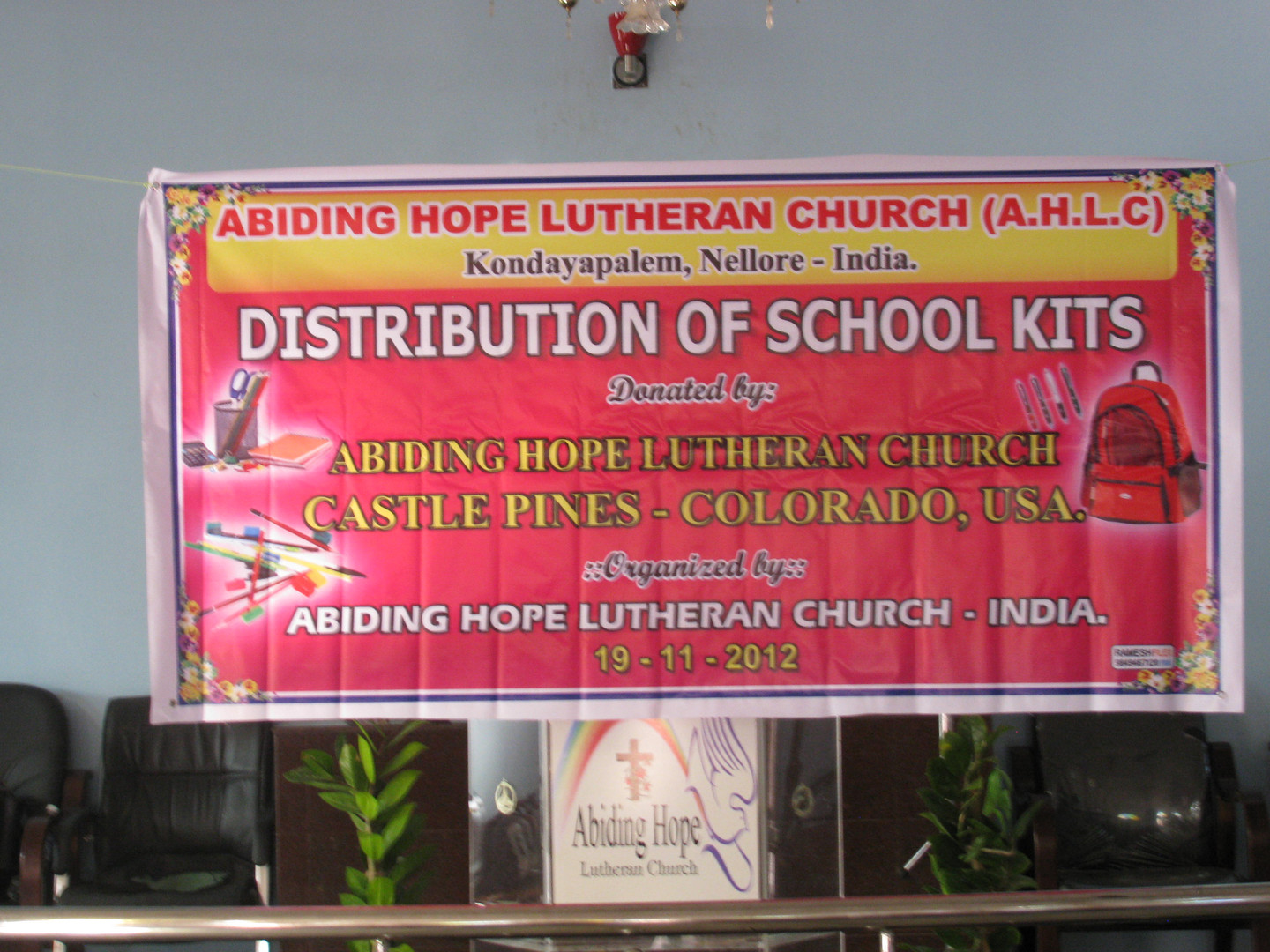 Hope RIsing for India helps provide school supplies for children who can attend their instruction but may not be able to afford the necesary materials for their studies.