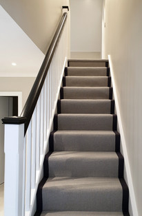 Softwood Painted Staircase with Carpet Runner