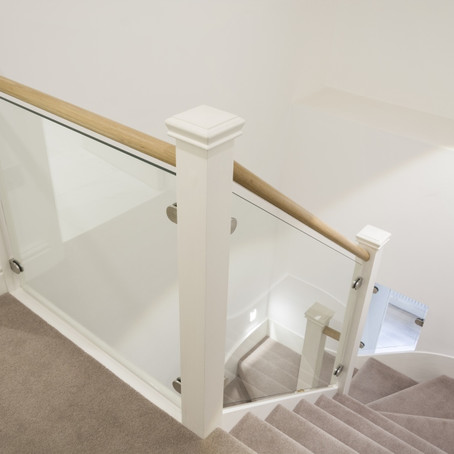 Style Guide: Add a touch of glass to your staircase