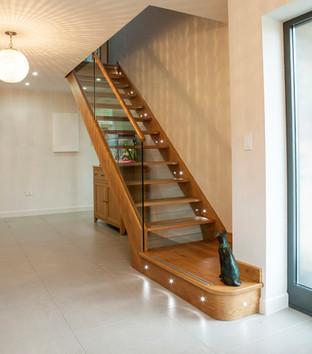 Open Riser Oak Staircase