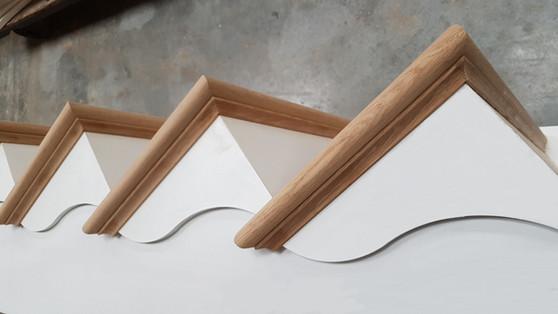 Cut String Oak Treads