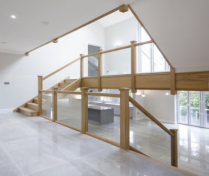 Quality Oak & Glass Stairs
