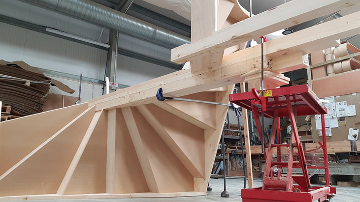 Winder Stairs in Progress