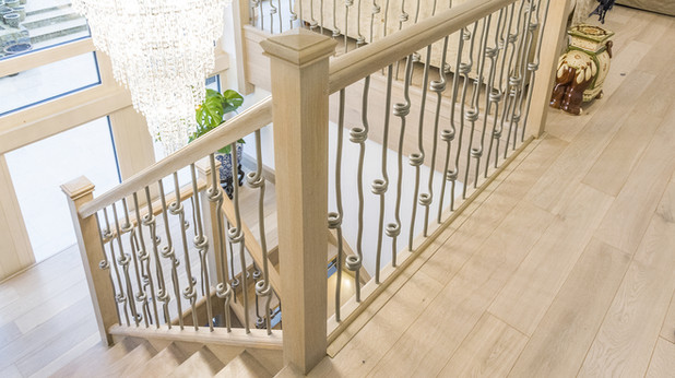 Quality Timber Staircase with Metal Spindles