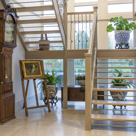 Style Guide: Lighten up your hallway with open riser stairs