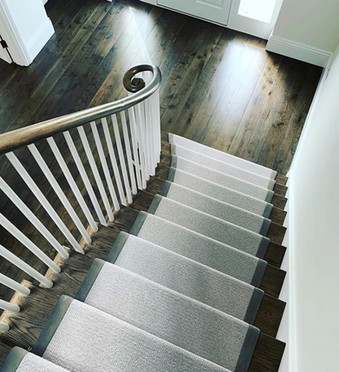 Cut String Stairs with Continuous Handrail