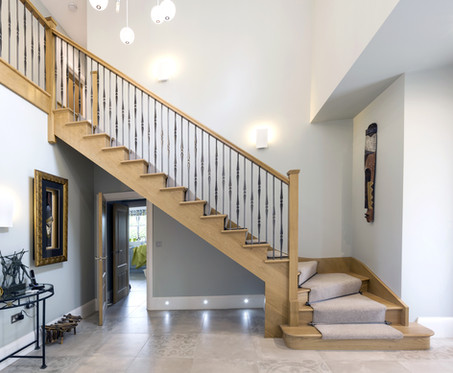 Contemporary Cut String Stairs