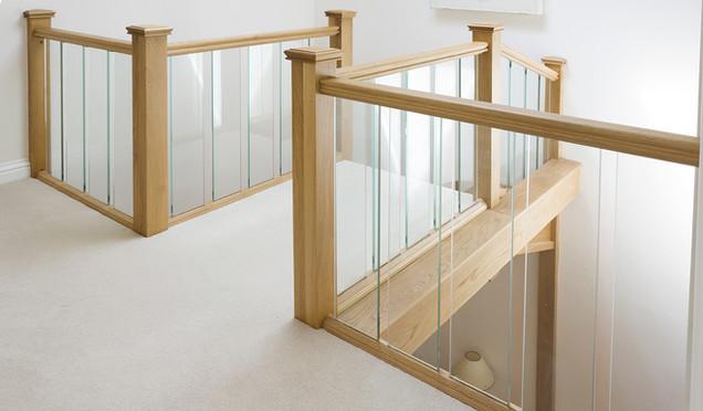Bespoke Handrail with Glass Balustrade