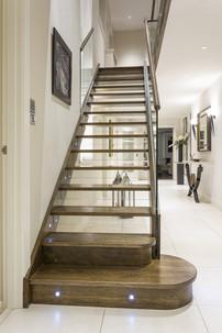 Bespoke Open Riser Glass Stairs