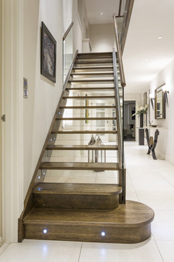 Bespoke Open Riser Glass Stairs