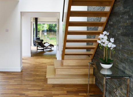 Modern Stairs with Squared Bottom Step