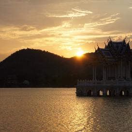 sunset Khao Tao lake hua hin thailand