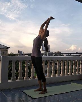 Morning Yoga position
